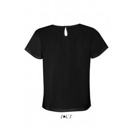Женская футболка-рубашка из крепа с короткими рукавами SOL'S BRIDGET