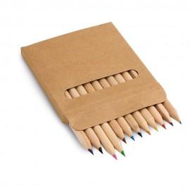 COLOURED. Коробка с 12 цветными карандашами