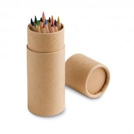 CYLINDER. Коробка с 12 цветными карандашами