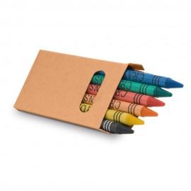 EAGLE. Коробка с 6 восковыми карандашами