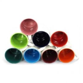 Чашка цветная внутри и ручка 425мл