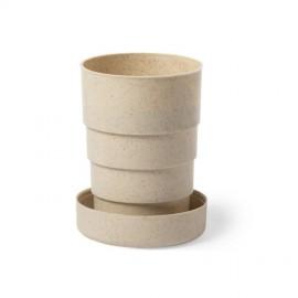 Бамбуковая дорожная чашка 220 мл с карабином