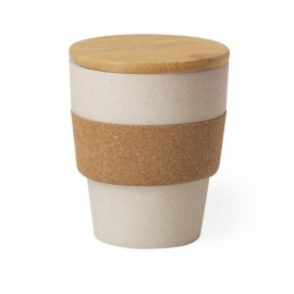 Бамбуковый стакан с крышкой