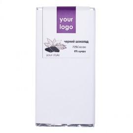 Черный шоколад с логотипом
