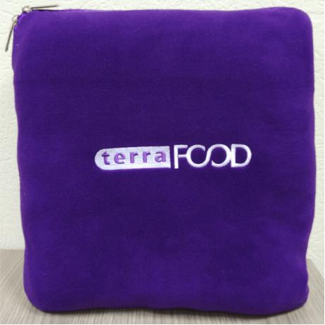 плед подушки с логотипом оптом