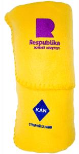 пледы с вышивкой логотипа на заказ