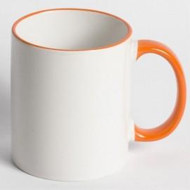 Чашка с цветными ручкой и ободком 330мл