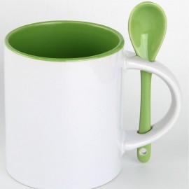 Чашка с ложкой 330 мл