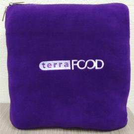 Плед подушка с логотипом на заказ
